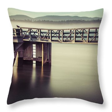 Golden Light And Fog Throw Pillow