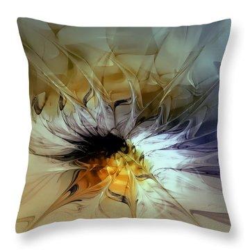 Golden Lily Throw Pillow by Amanda Moore