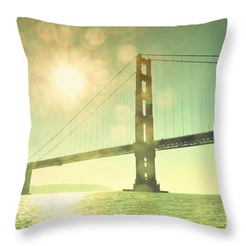 Golden... Throw Pillow