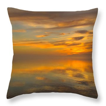 Golden Marble Sky Throw Pillow