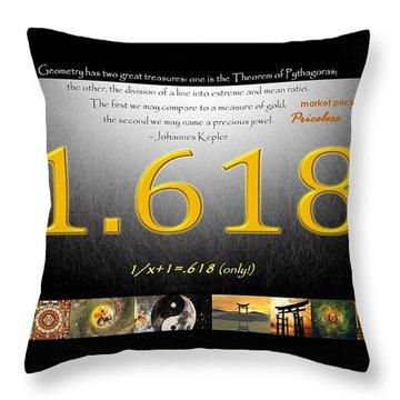 Golden Meaning Throw Pillow