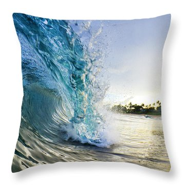 Golden Mile Throw Pillow