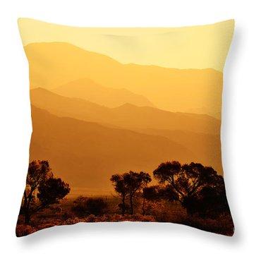 Golden Mountain Light Throw Pillow