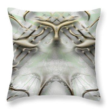 Throw Pillow featuring the digital art Golden Music Around The World by Melissa Messick