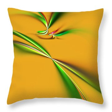Golden Mystic Throw Pillow by Carolyn Marshall