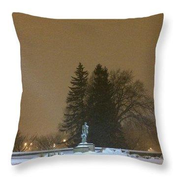 Golden Night Throw Pillow