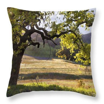Golden Oaks Throw Pillow by Sharon Foster