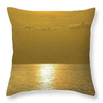 Golden Ocean Throw Pillow
