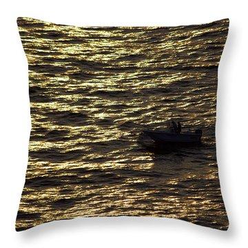 Throw Pillow featuring the photograph Golden Ocean by Miroslava Jurcik