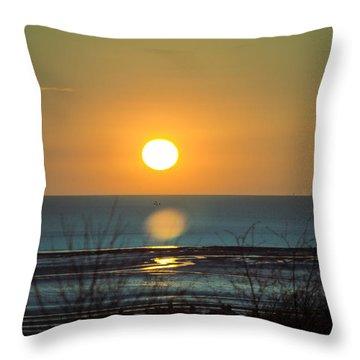 Golden Orb Throw Pillow
