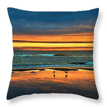 Golden Pacific Throw Pillow by Robert Bales