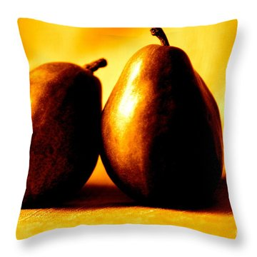 Golden Pair Throw Pillow by Cathy Dee Janes