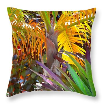 Throw Pillow featuring the photograph Golden Palm 2 by Darla Wood
