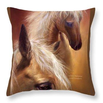Golden Palomino Throw Pillow by Carol Cavalaris