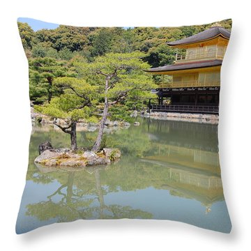 Golden Pavilion Throw Pillow