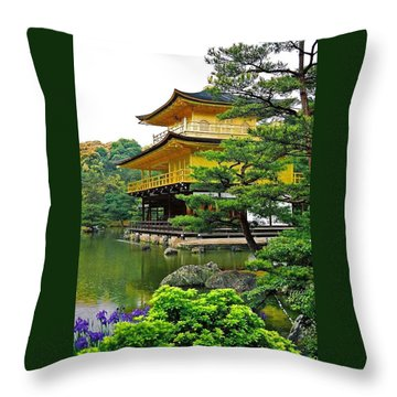 Golden Pavilion - Kyoto Throw Pillow by Juergen Weiss