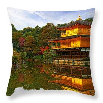 Golden Pavilion Throw Pillow