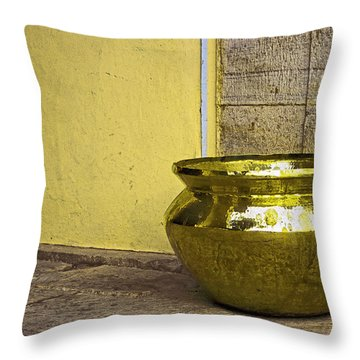 Golden Pot Throw Pillow
