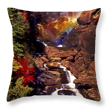 Golden Rainbow Throw Pillow by Paul W Faust -  Impressions of Light