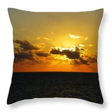 Throw Pillow featuring the photograph Golden Rays Sunset by Jennifer Wheatley Wolf