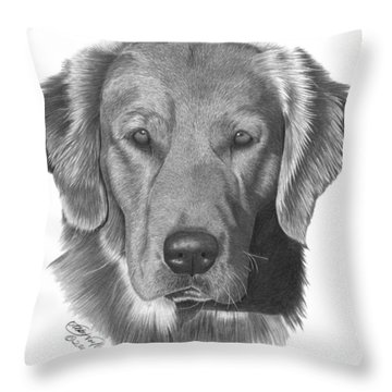 Golden Retriever - 026 Throw Pillow by Abbey Noelle