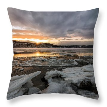 Golden River Throw Pillow