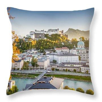 Golden Salzburg Throw Pillow by JR Photography