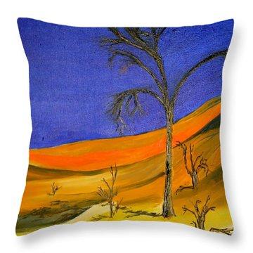 Golden Sand Dune Left Panel Throw Pillow