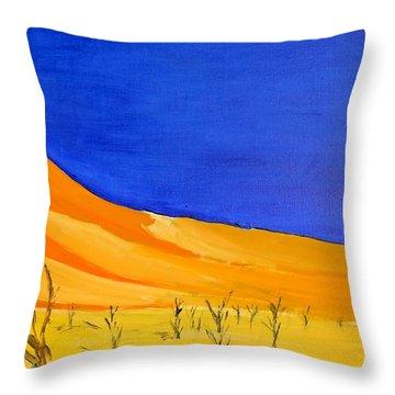 Golden Sand Dune Right Panel Throw Pillow