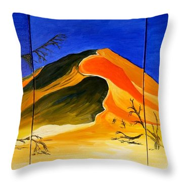 Golden Sand Dune_triptych Throw Pillow