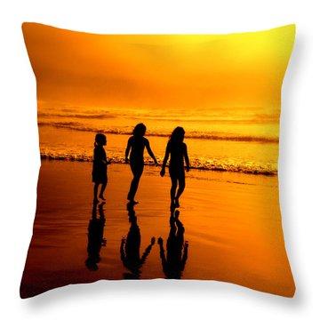 Golden Sands  Throw Pillow by Micki Findlay