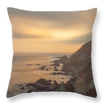 Golden Seashore Throw Pillow