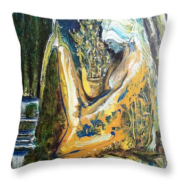 Golden Serenities Throw Pillow