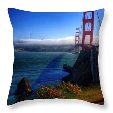 Golden Shadow Throw Pillow by Patrick Witz