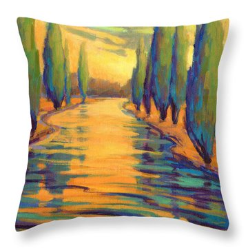 Golden Silence 3 Throw Pillow