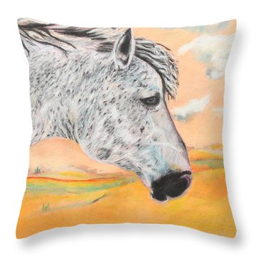 Golden Sky Throw Pillow by Jeanne Fischer
