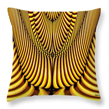 Throw Pillow featuring the painting Golden Slings by Rafael Salazar