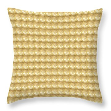 Throw Pillow featuring the photograph Golden Sparkle Tone Pattern Unique Graphic V2 by Navin Joshi