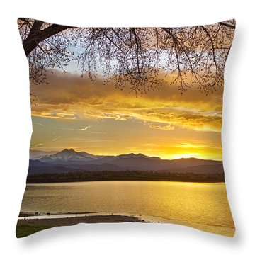 Golden Spring Time Twin Peaks Sunset View Throw Pillow by James BO  Insogna