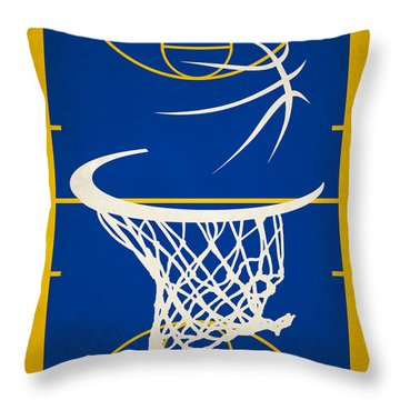 Golden State Warriors Court Throw Pillow