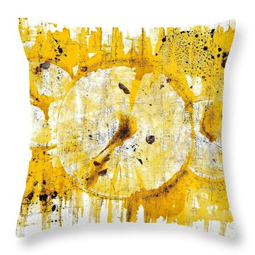 Throw Pillow featuring the painting Golden Sun Rise - 1290.121912 by Kris Haas
