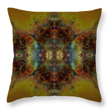 Golden Tapestry Throw Pillow