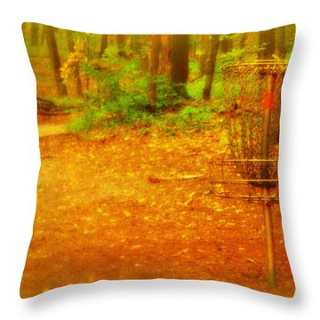 Golden Target Throw Pillow