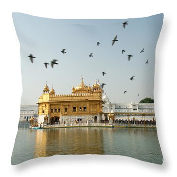 Golden Temple In Amritsar Throw Pillow