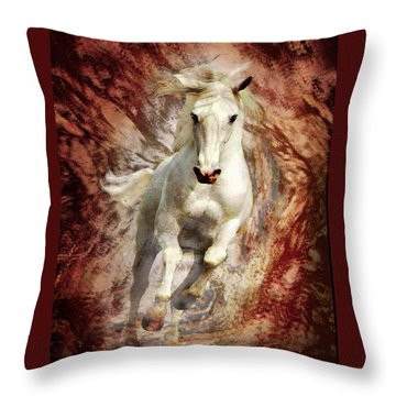 Golden Thunder Throw Pillow