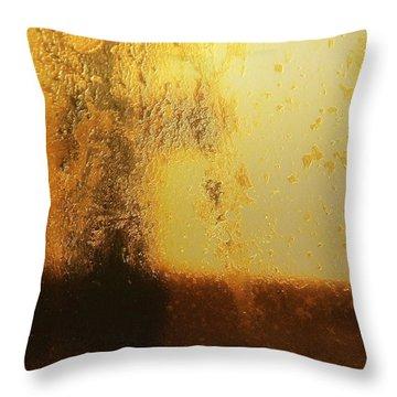 Golden Tree Throw Pillow by Gun Legler