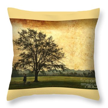 Throw Pillow featuring the photograph Golden Tree by Phil Mancuso