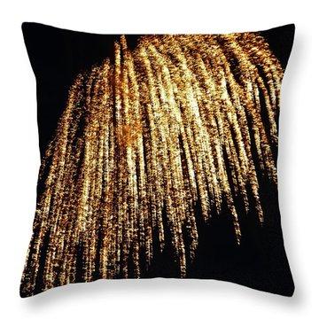 Golden Umbrella Throw Pillow by Aimee L Maher Photography and Art Visit ALMGallerydotcom