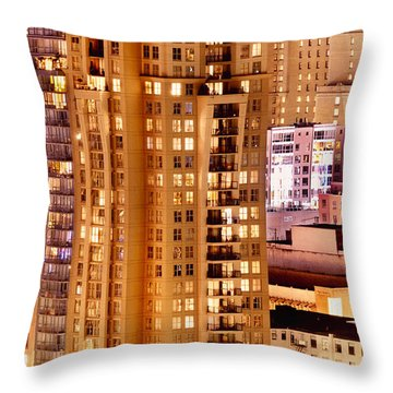 Throw Pillow featuring the photograph Golden Vancouver Cityscape Cdxii By Amyn Nasser by Amyn Nasser