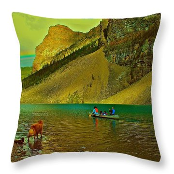 Golden Voyage Throw Pillow